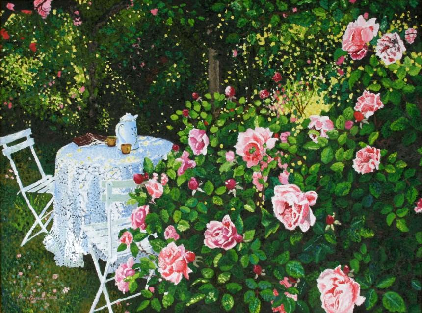 Tea in the Rose Garden